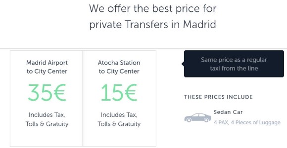 Welcome Pickups Madrid airport transfer & shuttle service