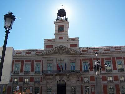"""The """"casa de Correos"""" in Puerta del Sol"""