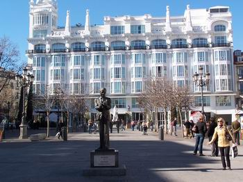 The Reina Victoria Hotel With Lorca S Statue